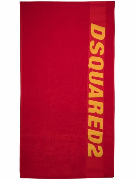 Красное пляжное полотенце с логотипом Dsquared2, фото