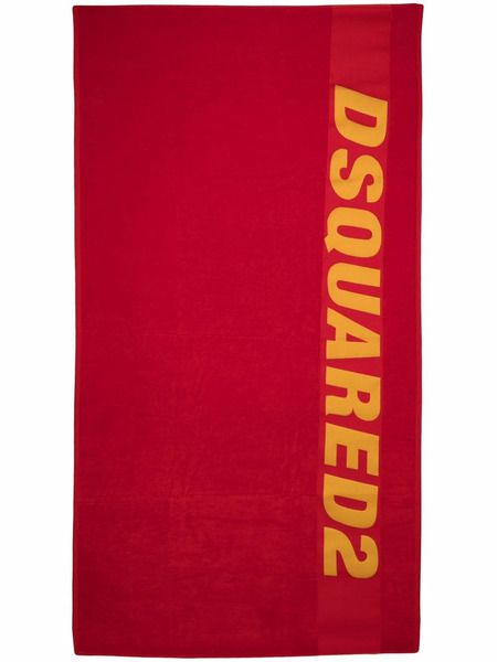 Красное пляжное полотенце с логотипом Dsquared2 фото