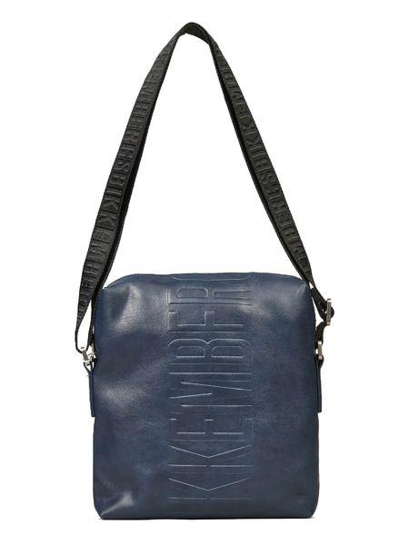 Темно-синяя сумка с логотипом Bikkembergs фото