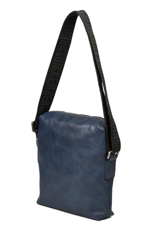 Темно-синяя сумка с логотипом Bikkembergs, фото