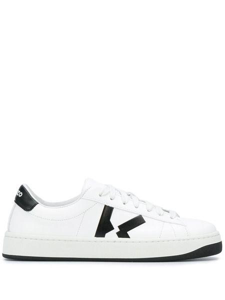 Белые кожаные кеды Kourt Kenzo фото