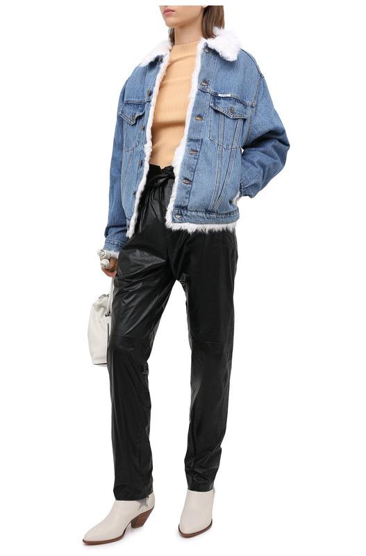Джинсовая куртка с меховой подкладкой Forte Dei Marmi Couture, фото