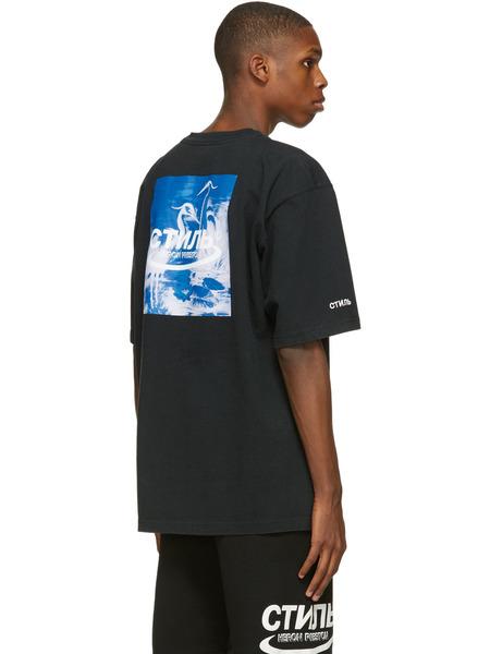 Черная футболка свободного кроя с нашивкой-логотипом Heron Preston, фото
