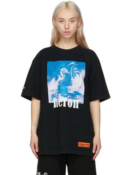 Черная футболка Herons Heron Preston фото