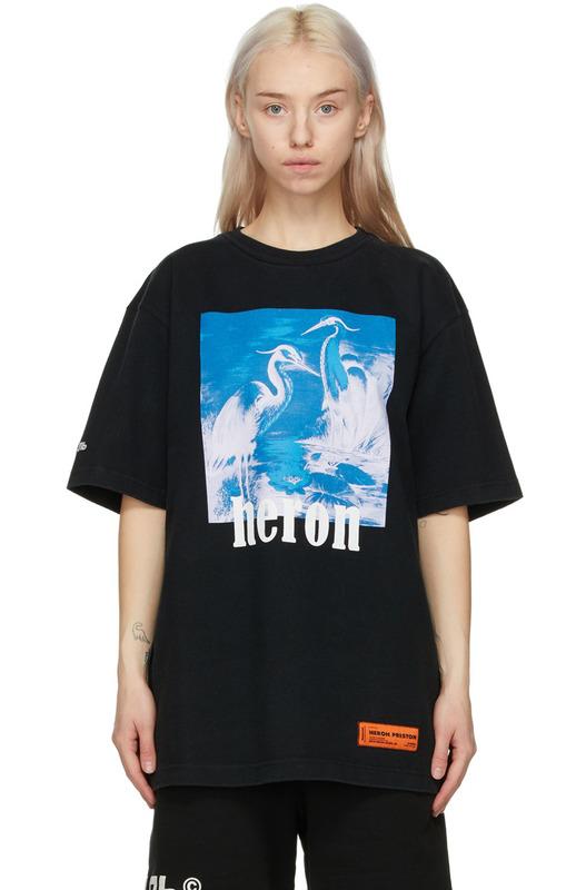 Черная футболка Herons Heron Preston, фото