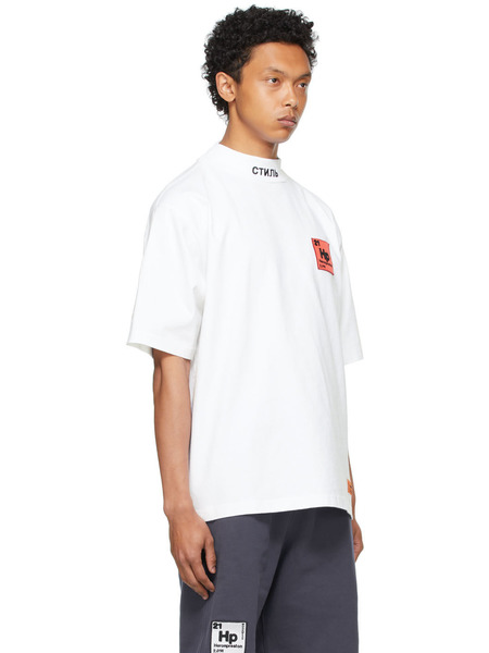 Белая футболка с логотипом Periodic Heron Preston, фото