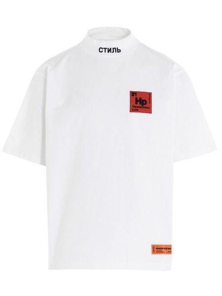 Белая футболка с логотипом Periodic Heron Preston фото