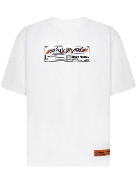 Белая футболка Reg с графичным принтом Heron Preston фото