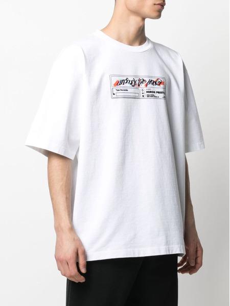 Белая футболка Reg с графичным принтом Heron Preston, фото