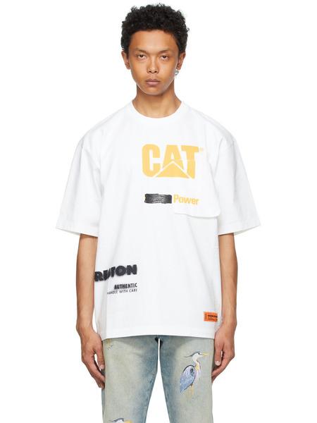 Белая футболка Caterpillar Edition 'Power' Heron Preston фото