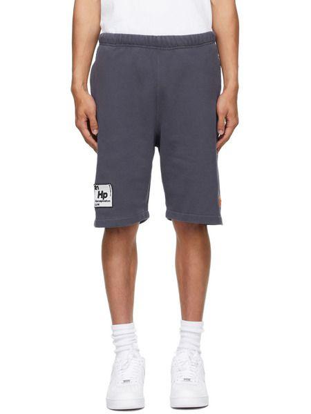 Синие спортивные шорты Periodic с логотипом Heron Preston фото