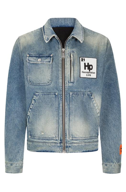 Джинсовая куртка Worker на молнии Heron Preston, фото