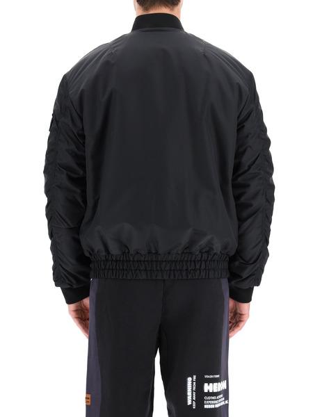 Черный бомбер с карманами на груди Heron Preston, фото
