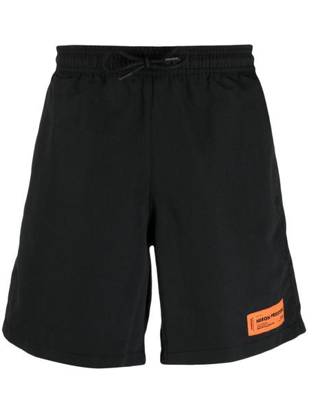Черные плавки-шорты с вырезами Heron Preston, фото