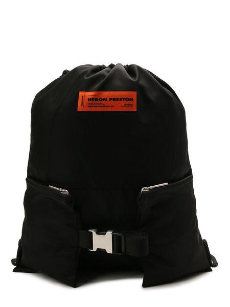 Текстильный рюкзак с нашивкой-логотипом Heron Preston фото