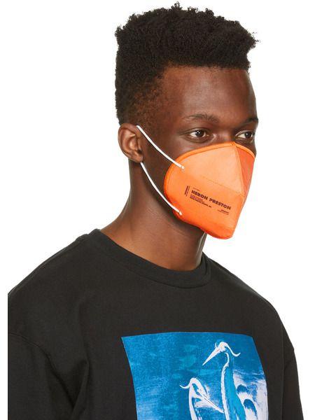 Оранжевая многоразовая маска с логотипом