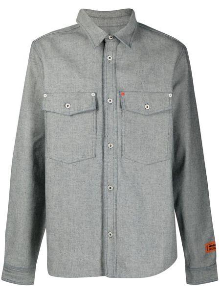 Джинсовая рубашка с нашивкой-логотипом Heron Preston фото