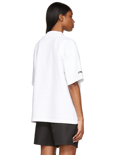 Белая футболка с воротником-стойкой СТИЛЬ Heron Preston, фото
