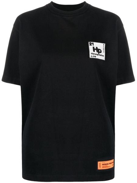 Черная футболка Periodic с короткими рукавами Heron Preston, фото