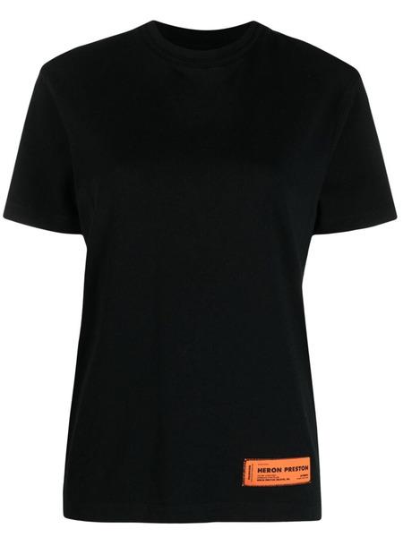 Черная футболка с завязками Heron Preston, фото