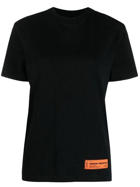 Черная футболка с завязками Heron Preston фото