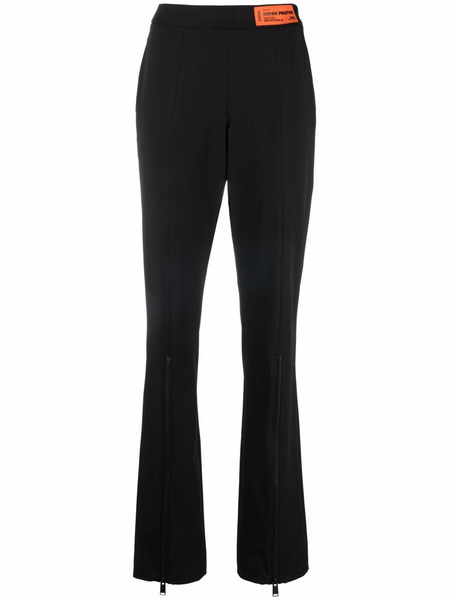 Черные брюки из габардина на молнии Heron Preston, фото