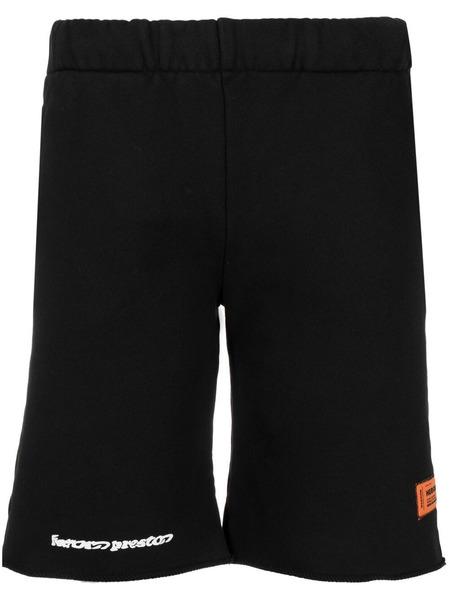 Черные спортивные шорты с логотипом Heron Preston, фото