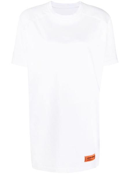 Белое платье-футболка с нашивкой-логотипом Heron Preston, фото