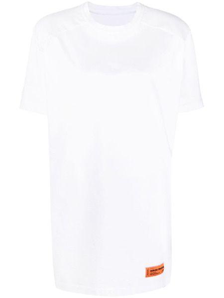 Белое платье-футболка с нашивкой-логотипом Heron Preston фото