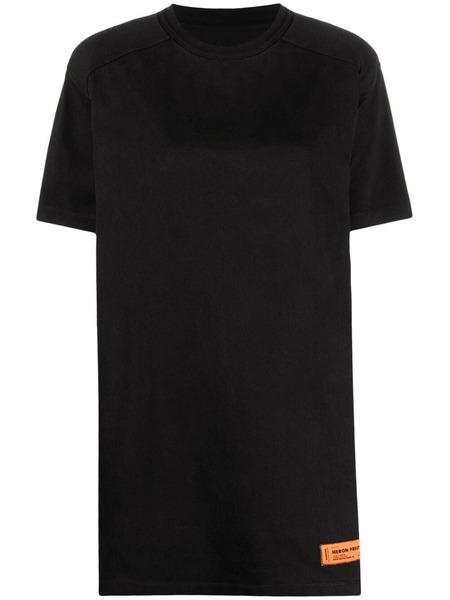 Черное платье-футболка с нашивкой-логотипом Heron Preston, фото