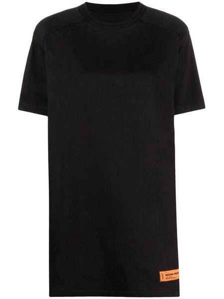 Черное платье-футболка с нашивкой-логотипом Heron Preston фото