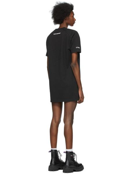 Черное платье-футболка с логотипом Heron Preston, фото