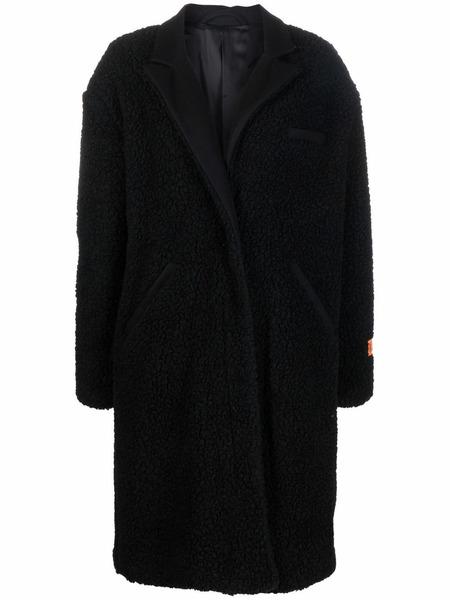 Пальто из овчины черного цвета Heron Preston, фото