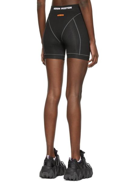 Черные беговые шорты с логотипом Heron Preston, фото