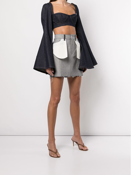 Джинсовая юбка с накладными карманами Heron Preston, фото