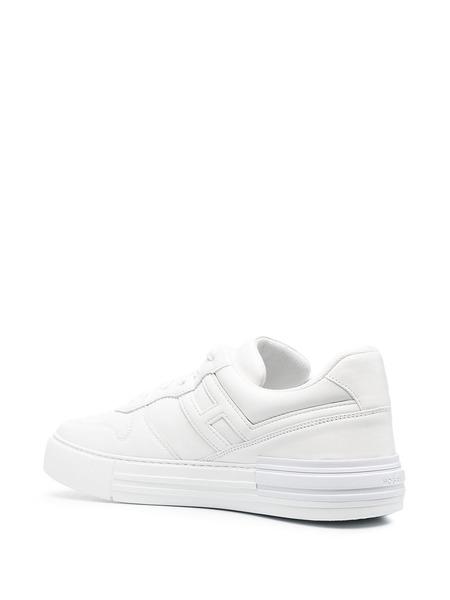 Белые кеды H86N на шнуровке Hogan, фото