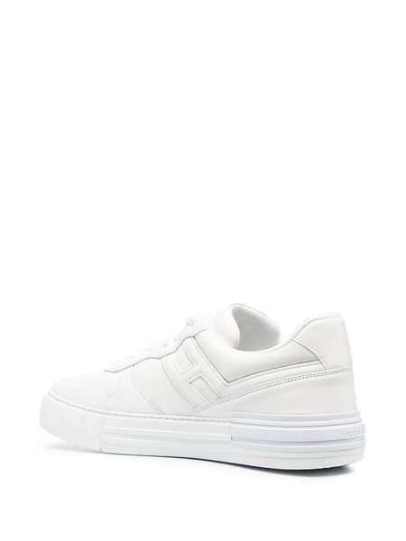 Белые кеды H86N на шнуровке