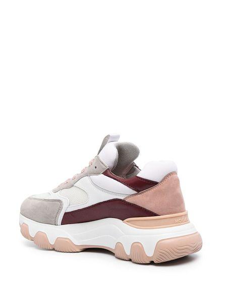 Кроссовки в стиле колор-блок на шнуровке