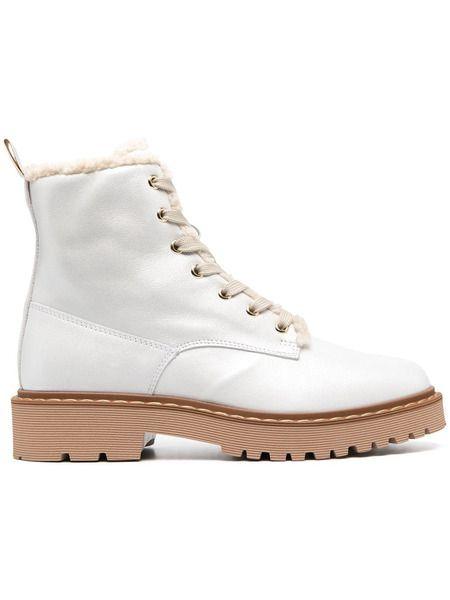 Белые ботинки с меховой подкладкой Hogan фото