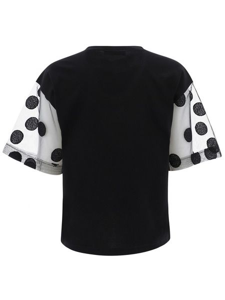 Футболка с контрастными рукавами черного цвета