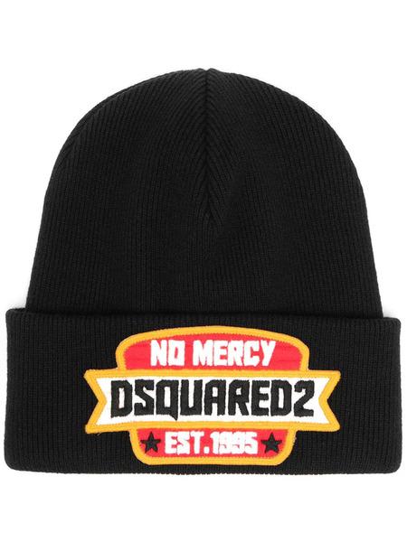 Черная шапка бини No Mercy Dsquared2, фото