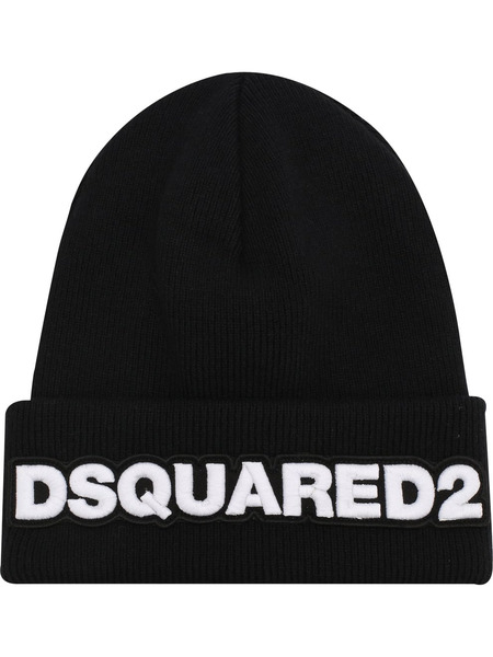 Шапка бини с нашивкой-логотипом Dsquared2, фото