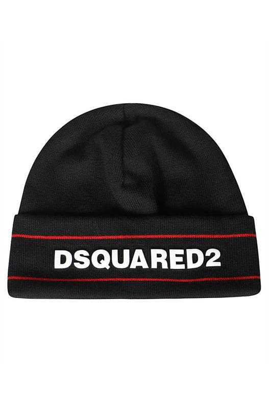Шапка бини с логотипом Dsquared2, фото