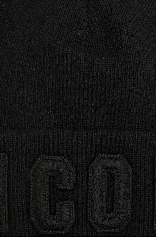 Черная классическая шапка-бини Dsquared2, фото