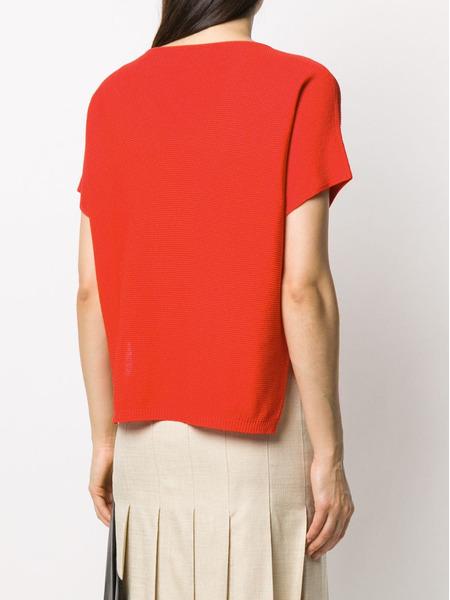 Красный свитер с короткими рукавами Fabiana Filippi, фото