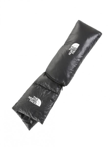 Черный стеганый шарф
