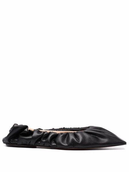 Черные балетки с квадратным носком Nanushka фото