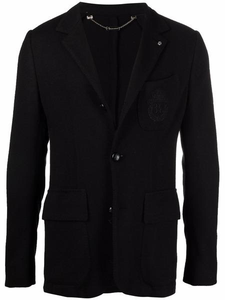 Черный пиджак узкого кроя с вышивкой Billionaire фото