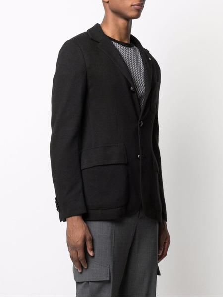 Черный пиджак узкого кроя с вышивкой Billionaire, фото