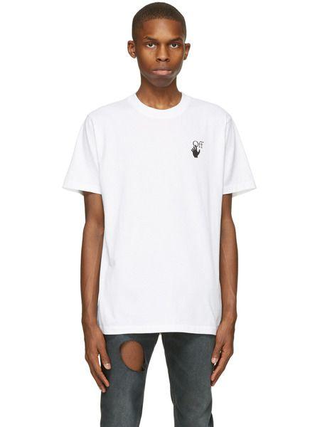 Белая футболка Marker с короткими рукавами и логотипом